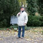 Richard Wadani bei der Begrüßung in Kagran, 2010 (Foto: Alexander Wallner)