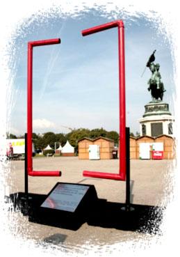 Temporäres Denkmal für Deserteure am Heldenplatz / Foto: AK Denkmalpflege