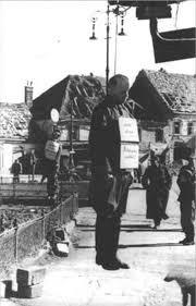 Aufnahme des von der Gestapo gehängten Hauptmanns der Wehrmacht Alfred Huth (1918-1945), April 1945. Quelle: Dokumentationsarchiv des österreichischen Widerstands