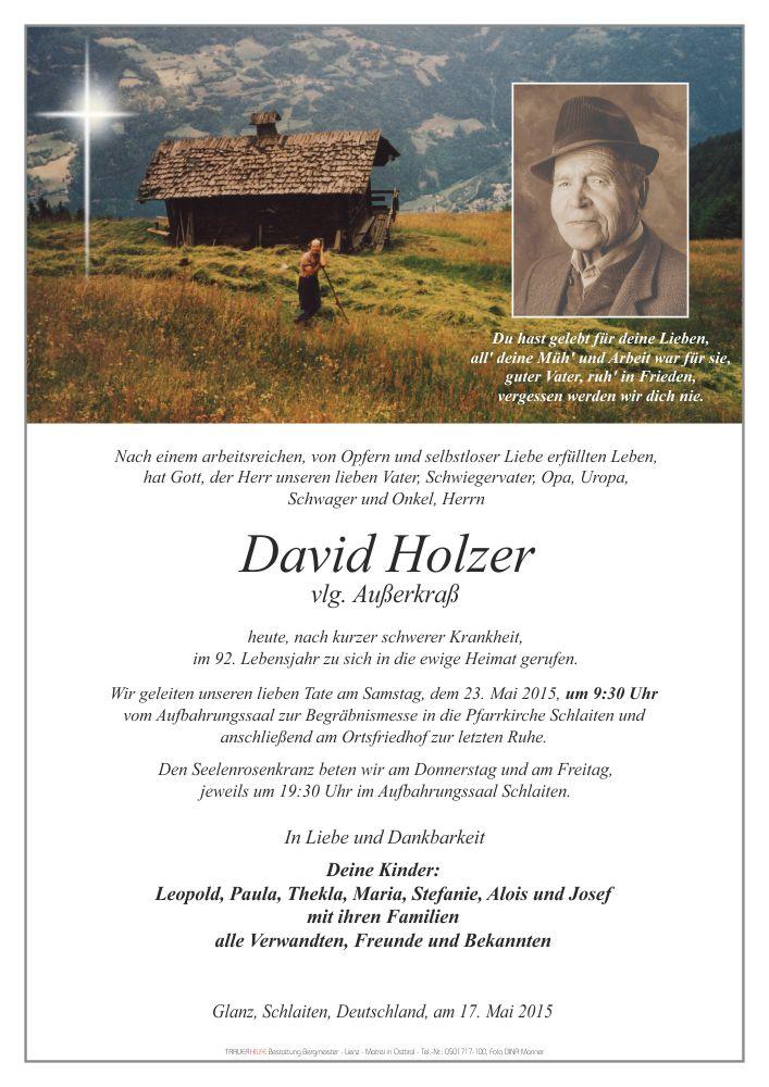 Parte David Holzer
