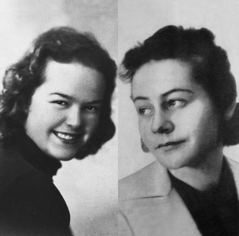 Maria Kacprzyk und Maria Wituska, um 1940.  Quellen: Privatarchiv Maria Kacprzyk, Danzig sowie Universytecka w Warszawie