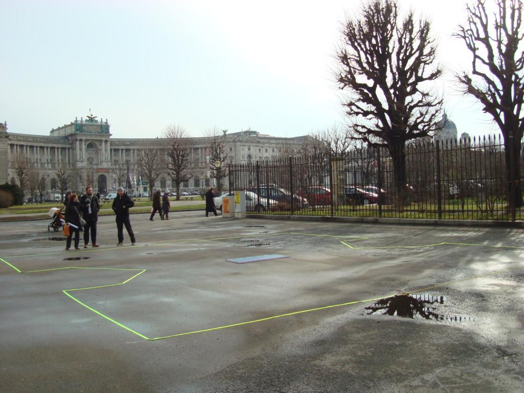 Künstler Olaf Nicolai: DenkmalPlanung @ Ballhausplatz, Wien