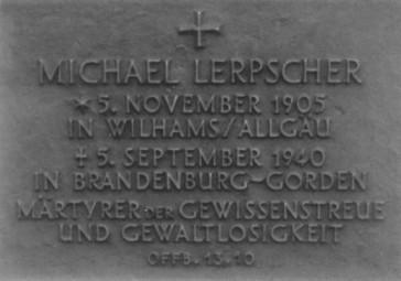 Gedenktafel für Michael Lerpscher Foto: Magnus Koch