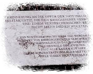 Gedenktafel in der KZ-Gedenkstätte Buchenwald / Foto: www.braunzonebw.blogsport.de
