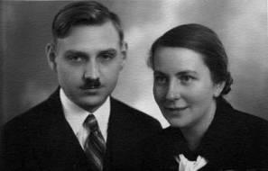 Otto Tschadek mit seiner Ehefrau Maria, geb. Schubert, 23. Oktober 1934. Quelle: Kultur- und Museumsverein Bruck an der Leitha
