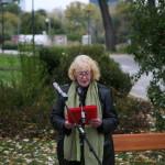 Carmen Köper Eschberg bei der Szenischen Lesung in Kagran, 2012 (Foto: Alexander Wallner)
