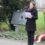 Festrede Viktoria Spielmann (ÖH Bundesvertretung) hält die Festrede, Kagren 2014 (Foto: Archiv Personenkomitee)