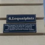 Gedenktafel, Loquaiplatz (Quelle: privat)