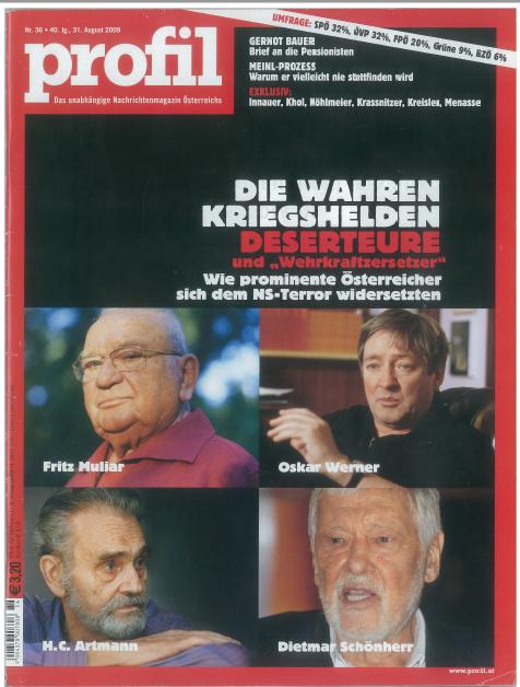 profil Titel, Ausgabe vom 31. August 2009