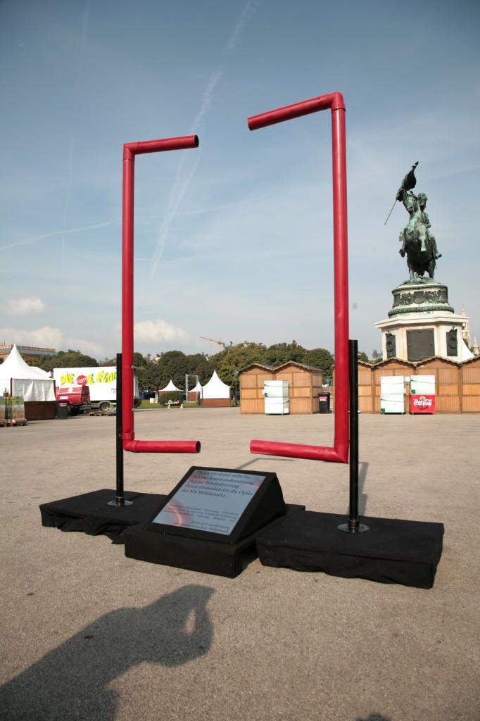 Aktion des AK Denkmalpflege 2009 am Heldenplatz