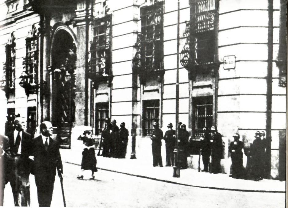 Belagerungszustand am Ballhausplatz, Juli 1934