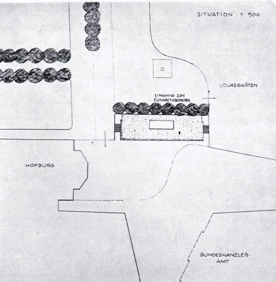 Übersichtsskizze Denkmalstandort von Holzmeister/Andre.
