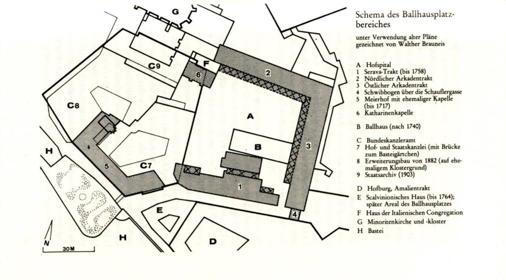 Schema des Ballhausplatzbereichs.