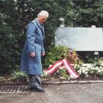 Richard Wadani nach der Krankniederlegung,Kagran 2002 (Foto: Archiv Personenkomitee)