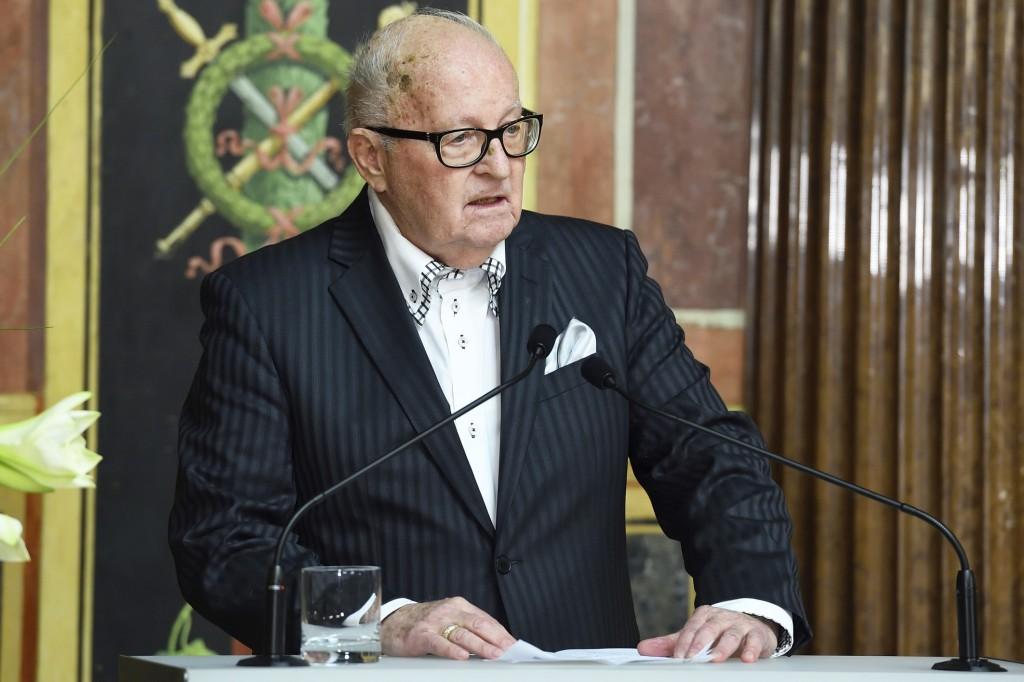 Manfried Welan bei der Festrede für das Personenkomitee. (Fotorechte: Parlament)