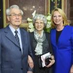 Richard Wadani, Linde Wadani und die Präsidentin Bures. (Fotorechte: Parlament)