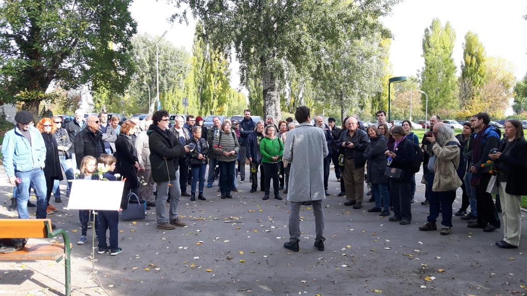 Thomas Geldmacher begrüßt die TeilnehmerInnen - Kagran 2017  (Foto: Archiv Personenkomitee)
